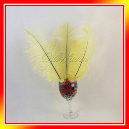 Wholesale 10 Yellow Natural Ostrich Feathers quot quot cm cm Wedding Party DIY Decor Color Headdresse News