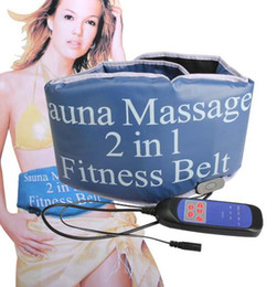 Wholesale 2 in Sauna Slimming Massage Fitness Belt Body Massager Vibrating Heating