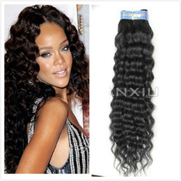 Wholesale Brazilian Virgin Hair Weft Hair Weave Deep Wave B g Mix Length DHL Free