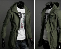 Wholesale The new men jacket In the classic military long hooded jacket Fashionable man jacket coat size M XXL tk0238