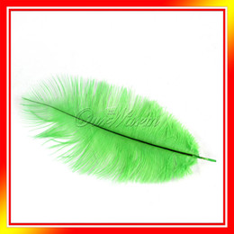 Wholesale 10 Green Natural Ostrich Feathers quot quot cm cm Wedding Party DIY Decor Hot Sale New Fan Making