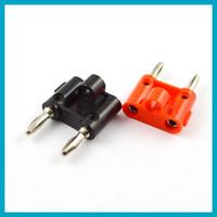 DC6.5mm banana plug types - Dual Banana Plug Speaker Connectors Screw Type Black amp Red