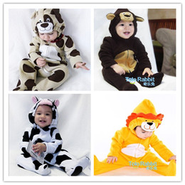 4pcs Toddle Baby Animal One-Piece Romper Halloween Xmas Costume Kid Winter Warm Long Sleeve Bodysuit