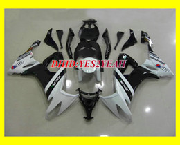 Custom White black Fairing kit for 2008 2009 KAWASAKI Ninja ZX10R ZX-10R ZX 10R 08 09 Motorcycle Fairings set+7gifts KQ11