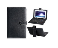 Wholesale G7 Black Leather Case Cover w Micro USB keyboard f Lenovo IdeaPad A1 quot Tablet