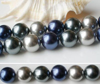 Wholesale AA mm Mixes color Round Shaper inch Mother Of Pearl Loose Bead Strand Shell Jewelr