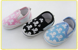 Wholesale Baby Shoes baby boys Shoes skull Toddler shoes sizes pairs