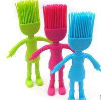 Wholesale Silicone villain multi purpose brush grill brush baking brush human shaped lovely brush cake brush