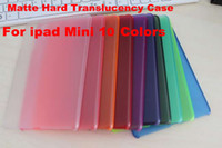 For Apple For Ipad Mini 7.9'' Cheap Matte surface hard plastic matte Clear back case for Apple ipad mini free shipping