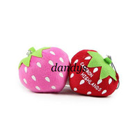 Big Kids Unisex Multicolor Wholesale strawberry plush pendants stuffed toy pendent 2design most popular plush plant fruit toys