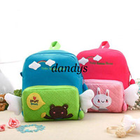 Wholesale 2012 study supplies Korea style kids backpack Schoolbag soft cotton fabric designs Anti lost band