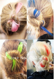 Wholesale Drama Party Colored Clip Hair Extension Piece Multi color pink