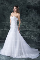 Wholesale A line tulle lace wedding dresses gown with sweetheart neckline and corset closure A3443