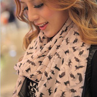 Wholesale Marilyn Monroe Vintage Cat Style All match Ladies Scarf Chiffon Scarf Shawl Mix Color CN
