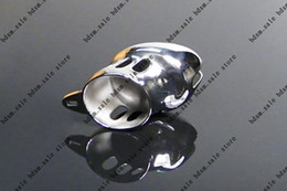 BDSM FATORY Male Stainless Steel Cock Newest Stainless Steel Male Chastity Cage Cock ring