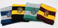 Wholesale 50pcs hot new Harry Potter School Scarf with badges Gryffindor Scarve