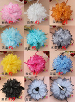 Wholesale Hair Feathers flower Hair accessories for girl hair Fascinator kids hair accessories colorful