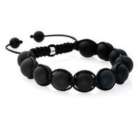 Fashion no minimum order - No minimum order Retail mm black matte stone shamballa bracelets
