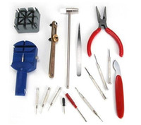 Wholesale set Watch Opener Remover Repair Tool Set Kit Professional Watchband Adjustment