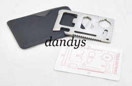 Wholesale 7cm in Emergency Outdoor Multi Tool Army marine military Hunting Survival Kit Poc