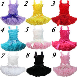 Wholesale Tutu Dress Set Chiffon top skirt set Petti Top Girls Pettiskirts colors