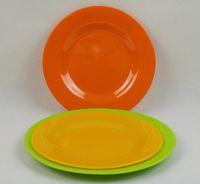 Wholesale plastic dinner plates pure color Anti broken freeshipping