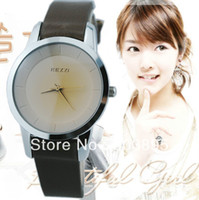 Women's Round 22 korea fashion style ladies quartz watch leather strips japan movement wrist watch for teenager ,girl