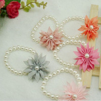 Wholesale Childrens Birthstone Jewelry Cute Imitation Pearl Bracelets For Kids Jewellery