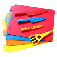 Wholesale stylor color multifunctional package of sets of tool kitchen color steel knife kitchen supplies