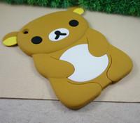 bear ipad case - 3D cartoon Rilakkuma Bear Silicone soft Skin Case For Apple ipad mini