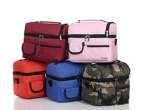 Wholesale Outdoor Handbag Picnic Lunch Bag Insulated Cooler Bag Multi function Outdoor Two Compartments