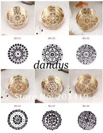 Wholesale vintage Antique crystal round decorative pattern Stamps seal carved gift craft toy Fashion gift