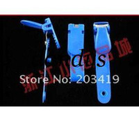 Wholesale multi color plastic Clip On Name Tag ID Badge Photo Metal Strap Card Holder for Trade