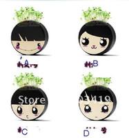 Wholesale retail Gift cartoon girl Hair man Plant Bonsai Grass Doll Office Mini Plant Fantastic Home