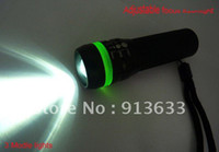Cheap 2013 new in stock Universal New LED Telescopic Flashlight Torch Lamnp 1.5V Lumen Mini Withdrawing