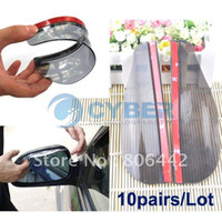 Wholesale pairs Car Rain Shield Rear View Side Mirror Rain Shield Shower Blocker Cover Sun