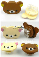 Wholesale Cute bear clip design wrap cable wire tidy earphone winder Organizer holder for headph