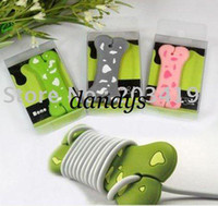 Wholesale Cute dog bone wrap cable wire tidy earphone winder Organizer holder for headphone MP3 MP4