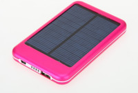 Universal power bank external charger - 5000MAh solar charger External Battery for smart phone mobile power bank colors DHL Free