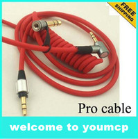 Wholesale 3 mm replacement headphone cable red cable mm cable for headphone