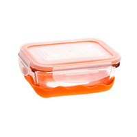 Wholesale Stylor DOUBLE IN FOLDABLE SILICONE LUNCH BOX Heat Lock Glass Lunch box MIni Microwave Lunch box Anti skid Sealing Crisper Fresh keeping Box