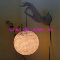 Shadeless Modern Wall Mouted The Special Home Decorations Chinese the wall lamp bergamot (white) trumpet creative furniture compl