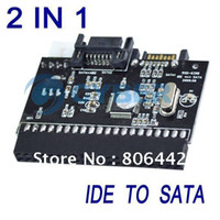 Wholesale 2 in SATA to IDE Converter IDE to SATA Adapter Converter