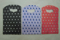 Wholesale Pretty red Purple Black Polka Dot Printing Plastic bag gift bag Jewelry bag cm