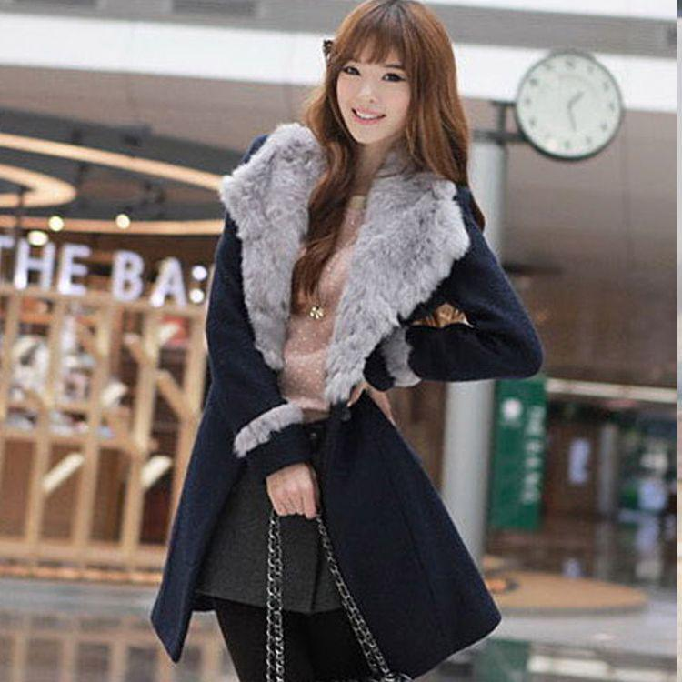 Winter Clothing For Women Fur Collar Hot-Selling New Fashion Big Coat