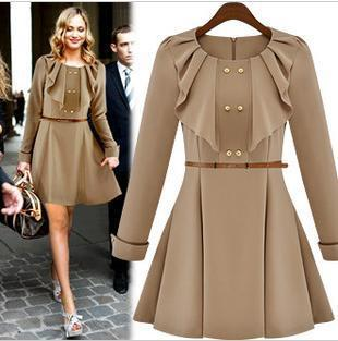 Free Shipping CD10# 2013 New Fashion Vintage Dress OL Office Ladies Cute Casual Clothes Women