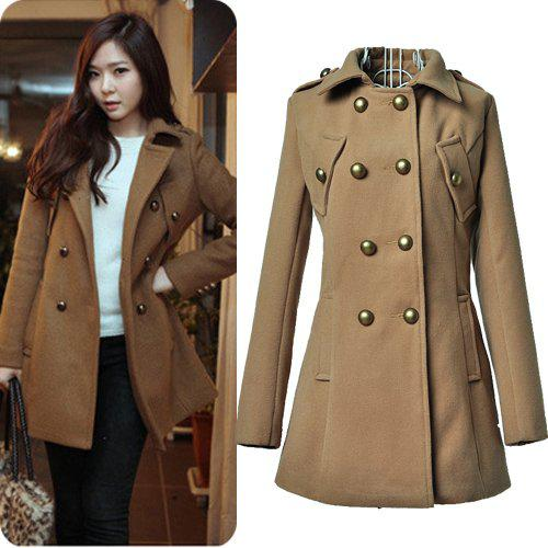 Online Cheap Womens Winter Coats 2012 Korean Style Fashion News Warm Double Breasted Long Sleeve Woolen Outwear Q By Wholesale Apparels | Dhgate.Com