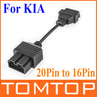 Car Diagnostic Cables and Connectors For KIA other KIA 20Pin male to 16Pin OBD2 OBD 2 female cable Adapter Connector Cable free Shipping K646
