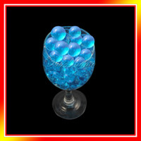 Wholesale 10 Bag Aqua Blue Magic Crystal Mud Soil Water Beads Flower Plantng Vase Color Decor Wedding Party
