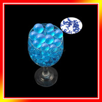 Wholesale 5 bag Aqua BlueMagic Crystal Mud Soil Water Beads Flower Planting Vase Decor New Wedding Supply